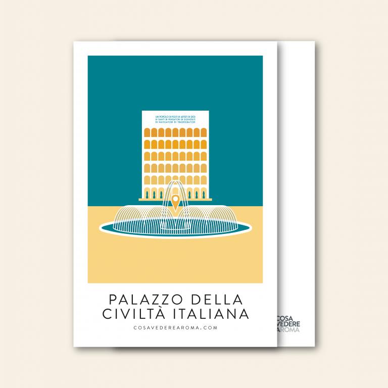 Cartolina Palazzo della Civiltà Italiana