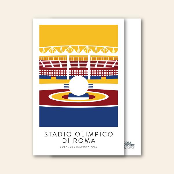 Cartolina Stadio Olimpico a Colori